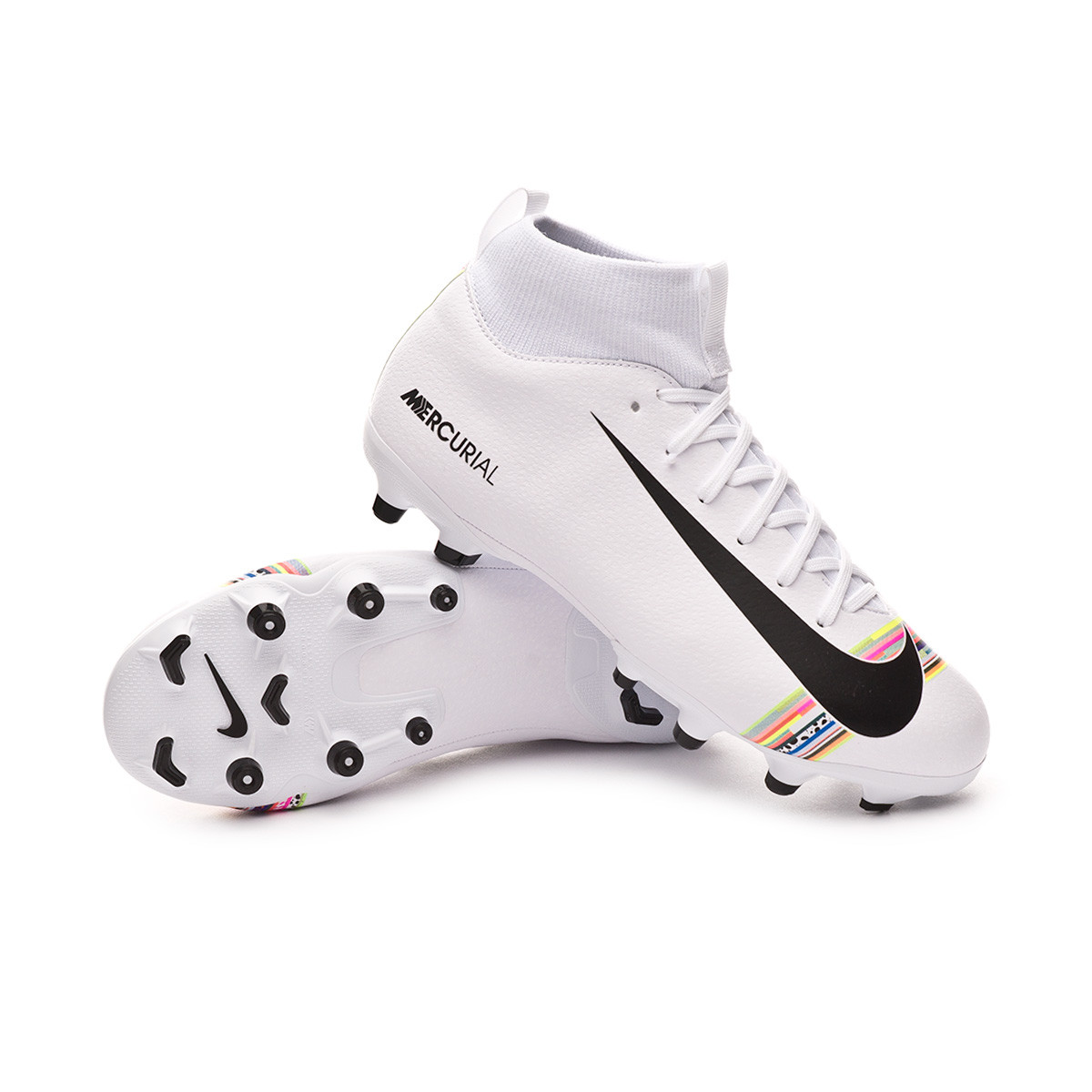 info for 3d3d7 1fafb Bota Mercurial Superfly VI Academy LVL UP MG Niño White-Black-Pure platinum