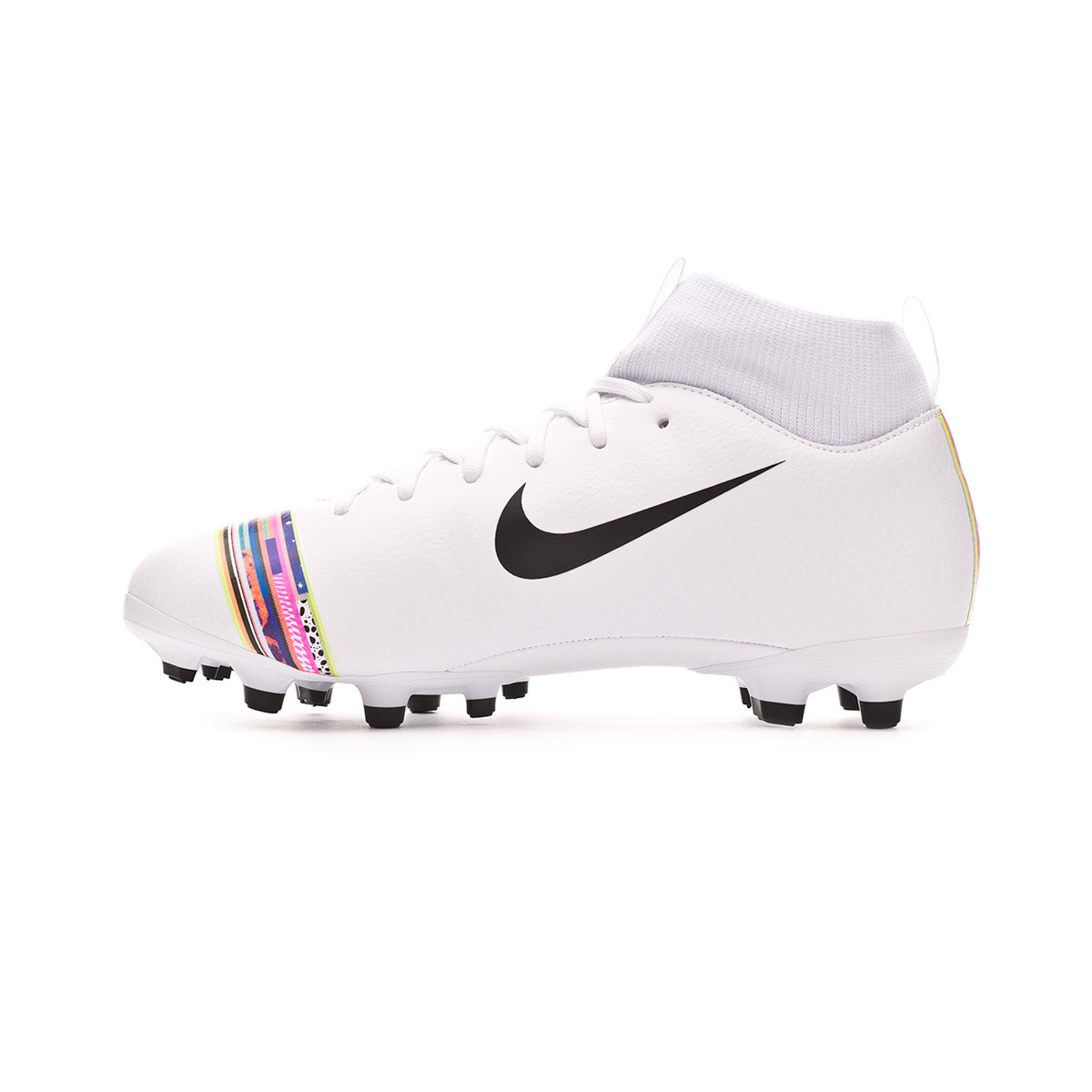 b22352f6d Football Boots Nike Kids Mercurial Superfly VI Academy LVL UP MG  White-Black-Pure platinum - Football store Fútbol Emotion