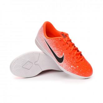 Futsal Boot  Nike Mercurial VaporX XII Academy IC Niño Hyper crimson-Black-White