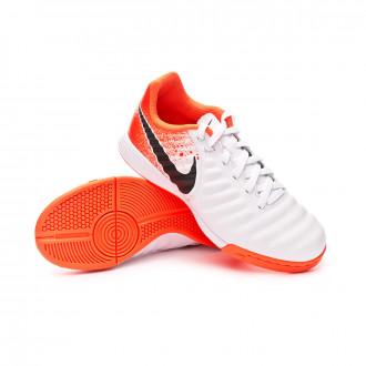 Futsal Boot  Nike Tiempo LegendX VII Academy IC Niño White-Black-Hyper crimson