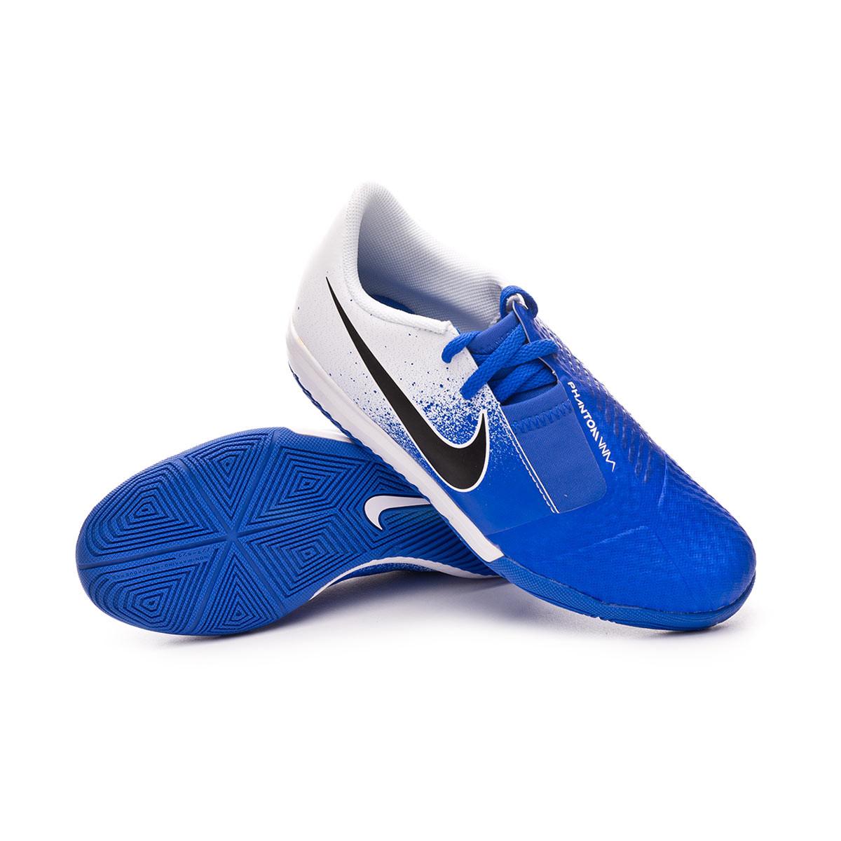 0882b9513 Futsal Boot Nike Phantom VenomX Academy IC Niño White-Black-Racer blue -  Tienda de fútbol Fútbol Emotion