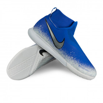 Chaussure de futsal  Nike Phantom Vision Academy DF IC enfant Racer blue-Chrome-White-Black