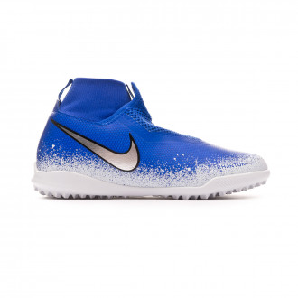 Chaussure de football  Nike Phantom Vision Academy DF Turf Niño Racer blue-Chrome-White-Black