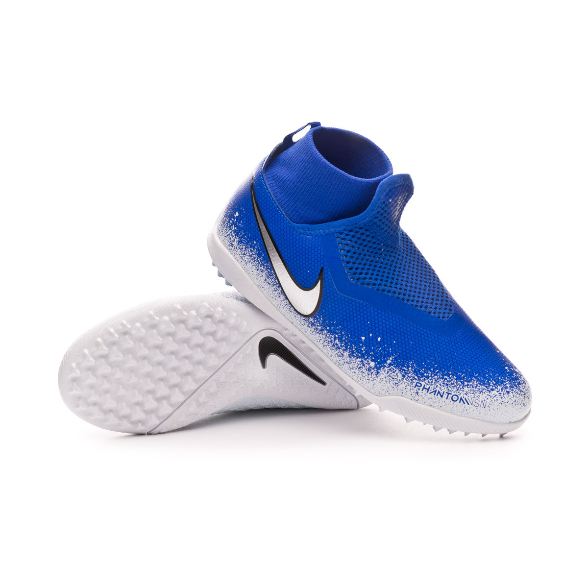 best service 586ac f7be1 Football Boot Nike Phantom Vision Academy DF Turf Niño Racer blue -Chrome-White-Black - Football store Fútbol Emotion