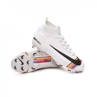 Zapatos de fútbol  Nike Mercurial Superfly VI Elite LVL UP FG Niño White-Black-Pure platinum