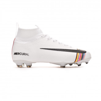 Football Boots Nike Mercurial Superfly VI Elite LVL UP FG Niño White-Black-Pure platinum
