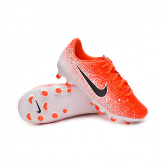 Football Boots  Nike Mercurial Vapor XII Academy MG Niño Hyper crimson-Black-White