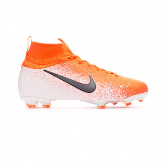 Chaussure de foot  Nike Mercurial Superfly VI Elite FG enfant Hyper crimson-Black-White