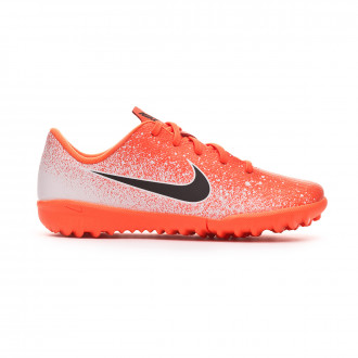 Chaussure de football  Nike Mercurial VaporX XII Academy Turf enfant Hyper crimson-Black-White
