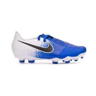 Football Boots  Nike Kids Phantom Venom Academy FG  White-Black-Racer blue