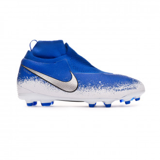 Bota  Nike Phantom Vision Elite DF FG/MG Niño Racer blue-Chrome-White