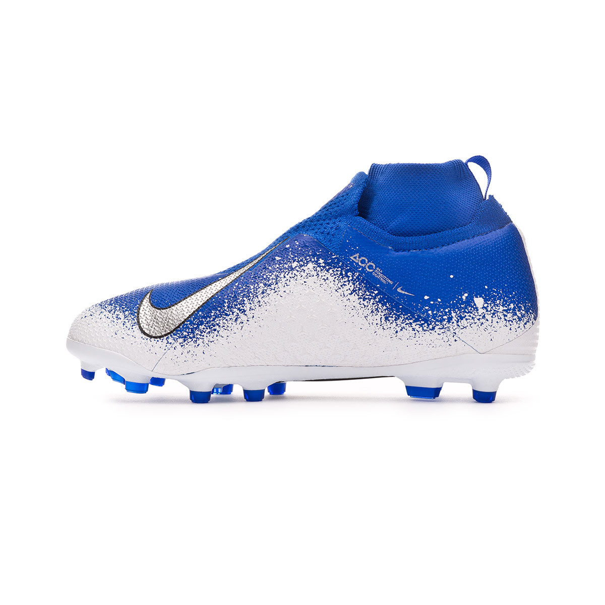 37b05faac Football Boots Nike Kids Phantom Vision Elite DF FG MG Racer blue-Chrome-White  - Football store Fútbol Emotion