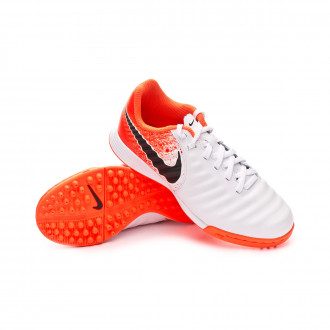 Kids Tiempo LegendX VII Academy Turf White-Black-Hyper crimson