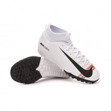 Zapatilla Mercurial SuperflyX VI Academy LVL UP Turf Niño White-Black-Pure platinum