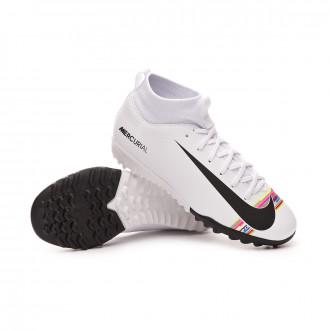 0f74b217ad65b Zapatilla Nike Mercurial SuperflyX VI Academy LVL UP Turf Niño White-Black-Pure  platinum