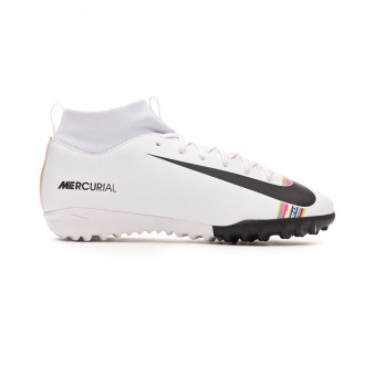 Zapatilla  Nike Mercurial SuperflyX VI Academy LVL UP Turf Niño White-Black-Pure platinum