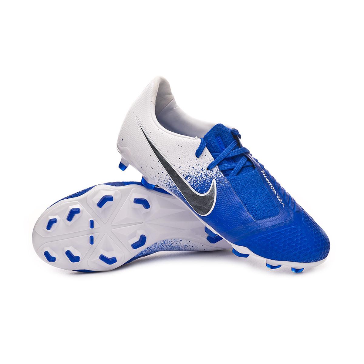 Controlar arrepentirse internacional  Football Boots Nike Kids Phantom Venom Elite FG White-Black-Racer blue -  Football store Fútbol Emotion