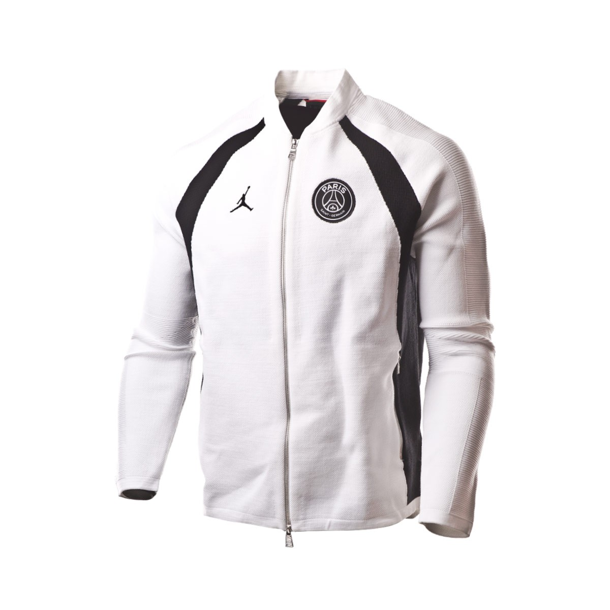 42cc5c540abd Jacket Nike Jordan x PSG Flight Knit FZ White-Black - Football store ...