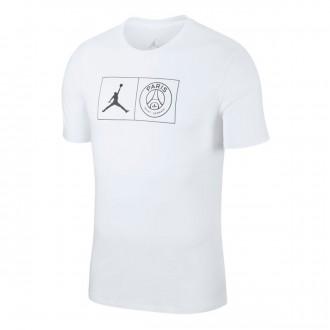 Camiseta  Nike Jordan x PSG Jock Tag White-Black
