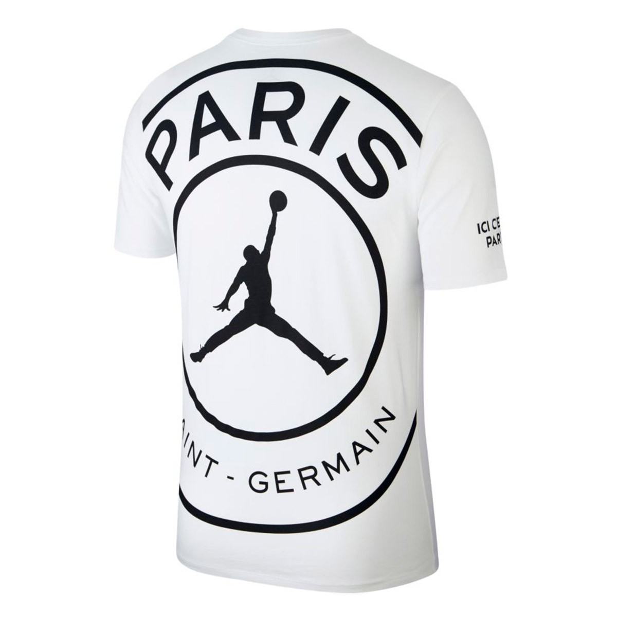 sports shoes a3847 f85dc Camiseta Jordan x PSG Logo White-Black