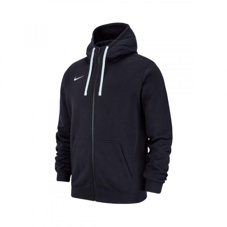 Chaqueta Nike Club 19 Full-Zip Hoodie Black-White - Soloporteros es ... 01d7b2e5285