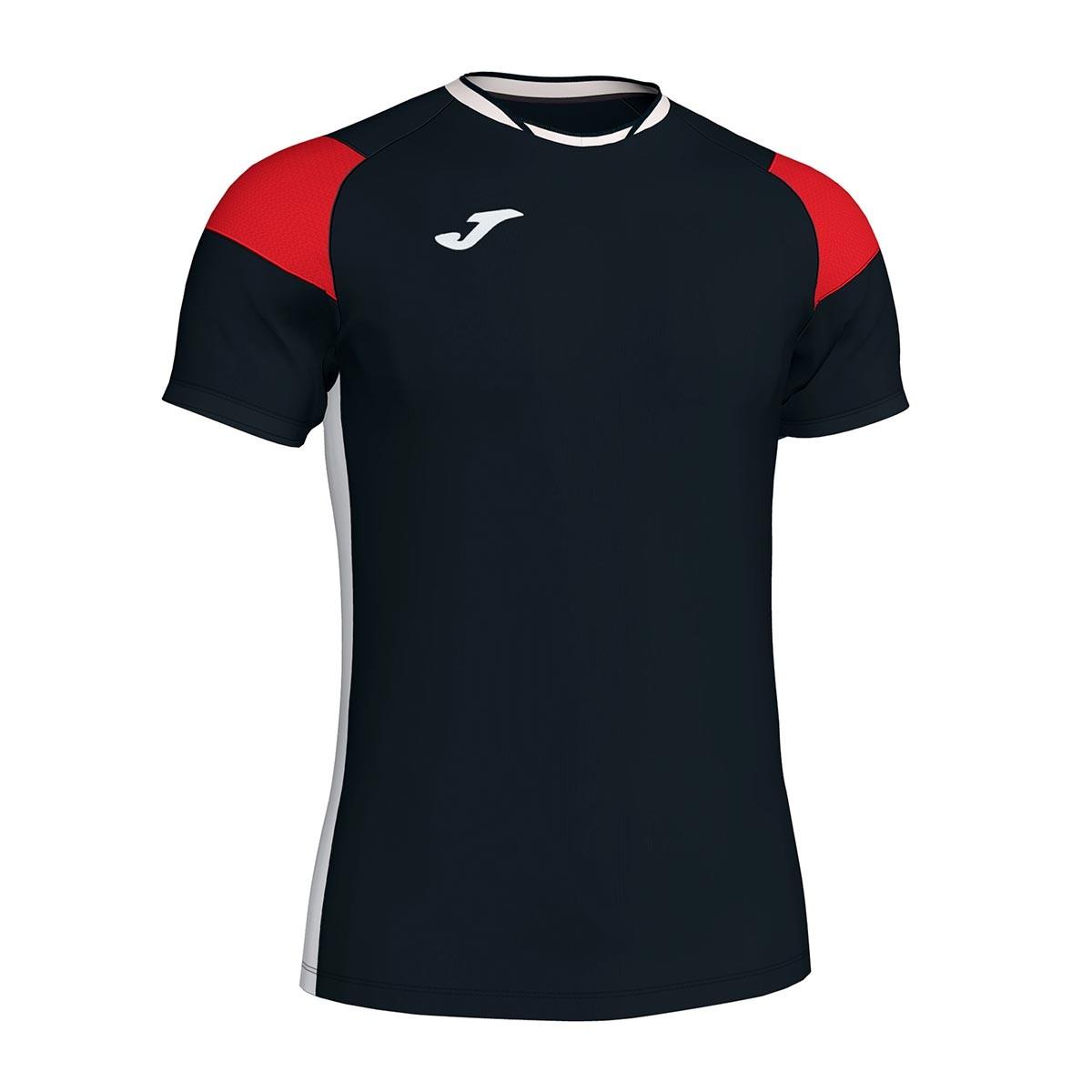 d1b127639 Camiseta Joma Crew III m c Negro-Rojo-Blanco - Tienda de fútbol Fútbol  Emotion