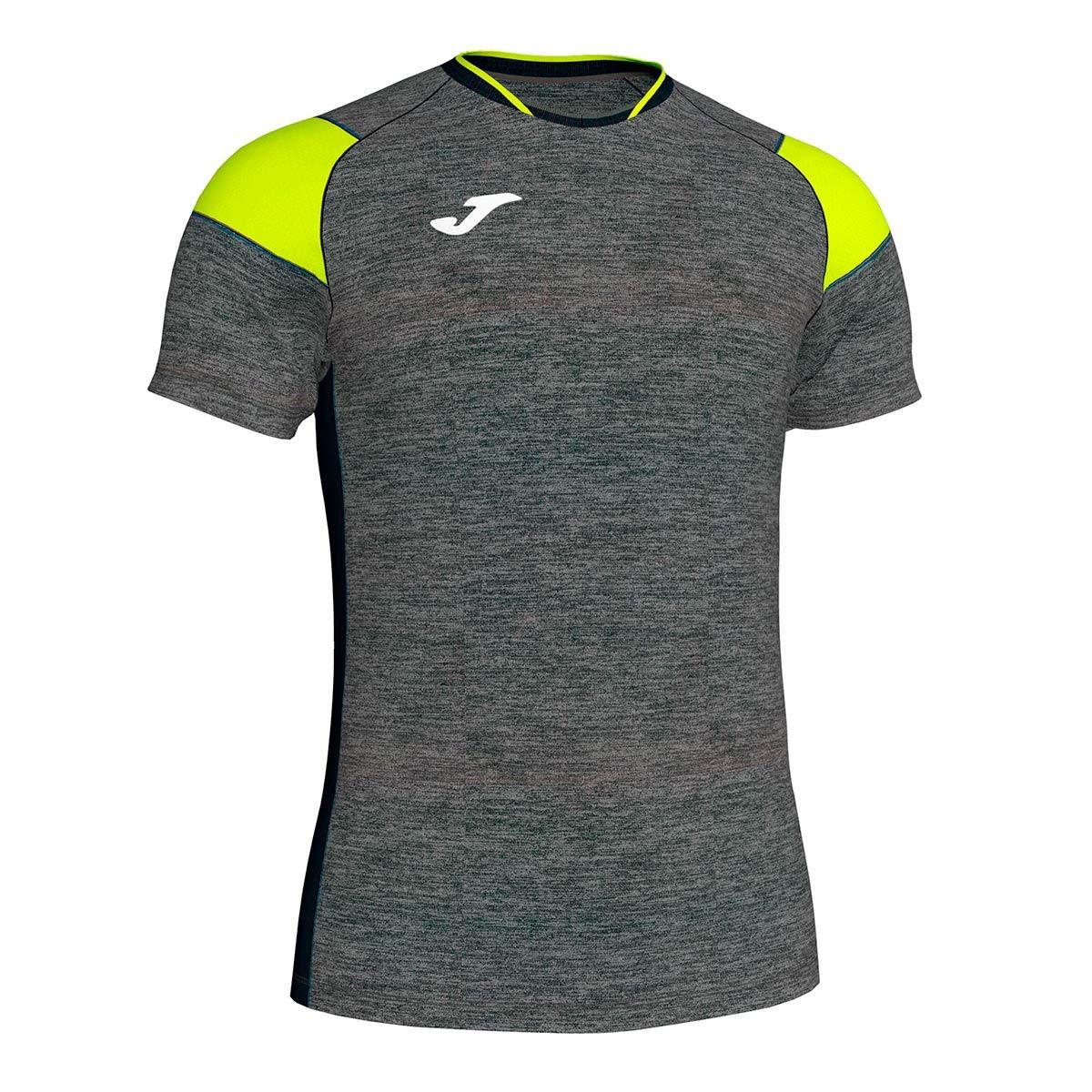fe120d8b8c8fb Camiseta Joma Crew III m c Gris-Amarillo-Negro - Tienda de fútbol Fútbol  Emotion