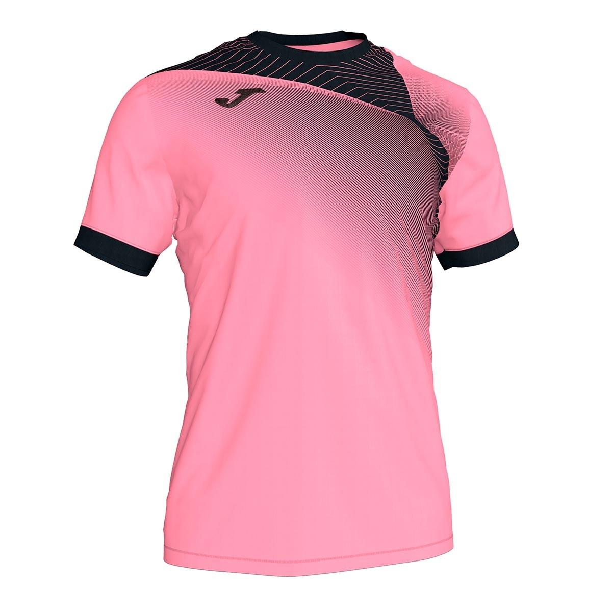 camiseta joma hispa ii m c rosa negro tienda de futbol futbol emotion camiseta joma hispa ii m c