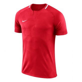 Camiseta  Nike Challenge II m/c Niño University red-White