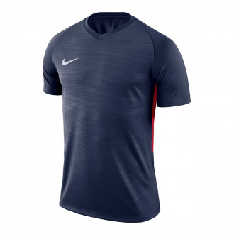 Camiseta  Nike Tiempo Premier m/c Niño Midnight Navy-University Red