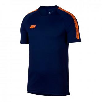Camiseta  Nike Breathe Dri-FIT Squad Blue void-Total orange
