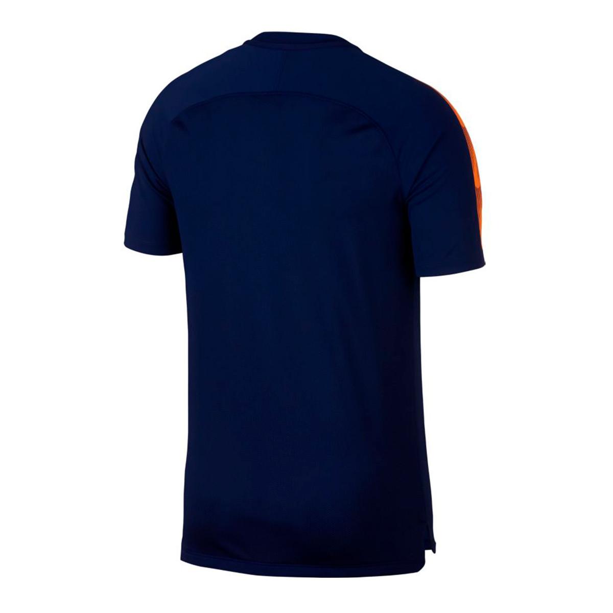 Camiseta Breathe Dri FIT Squad Blue void Total orange