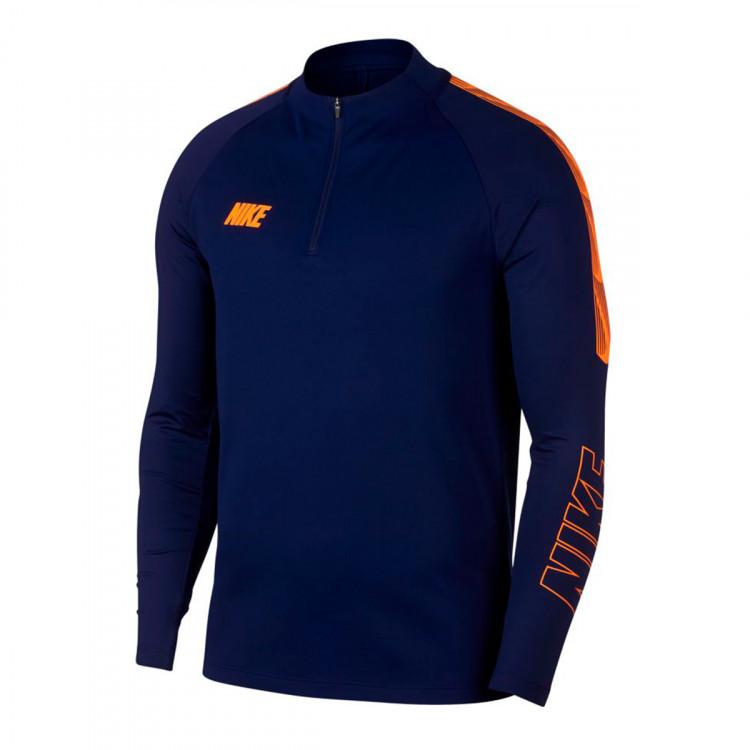 Camiseta Dri FIT Squad Blue void Total orange