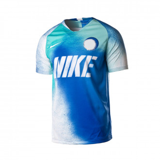 Maillot  Nike Dry Strike SS Game royal-White