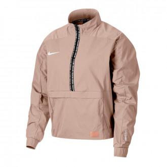 Casaco  Nike Dry Nike F.C. Midlayer QZ Mujer Guava ice
