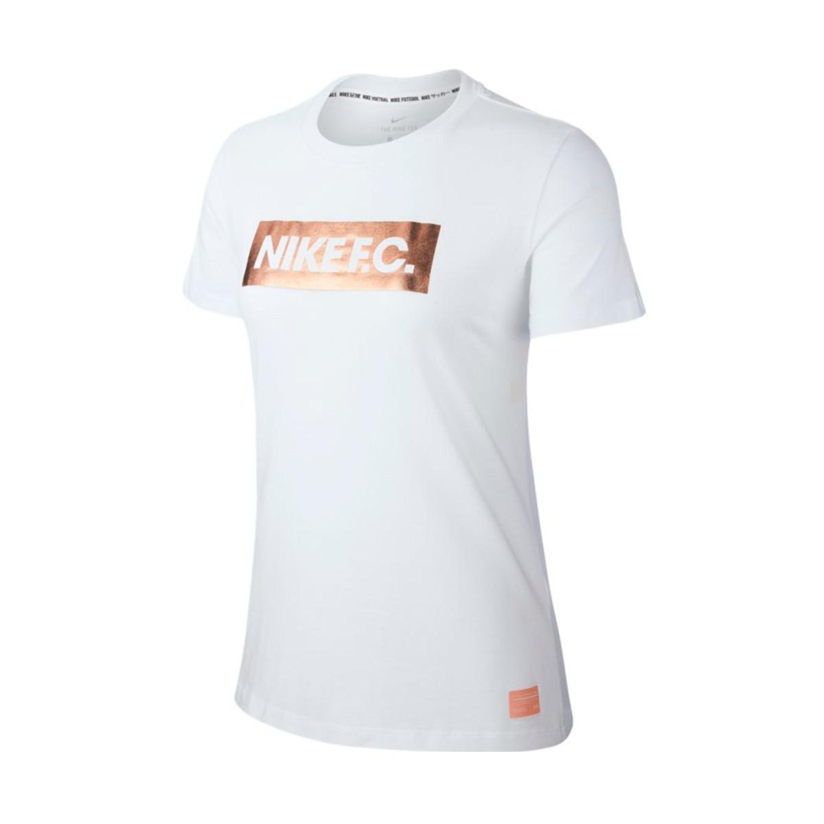 5f119d1be Camiseta Nike Nike F.C. Block Mujer White - Tienda de fútbol Fútbol Emotion