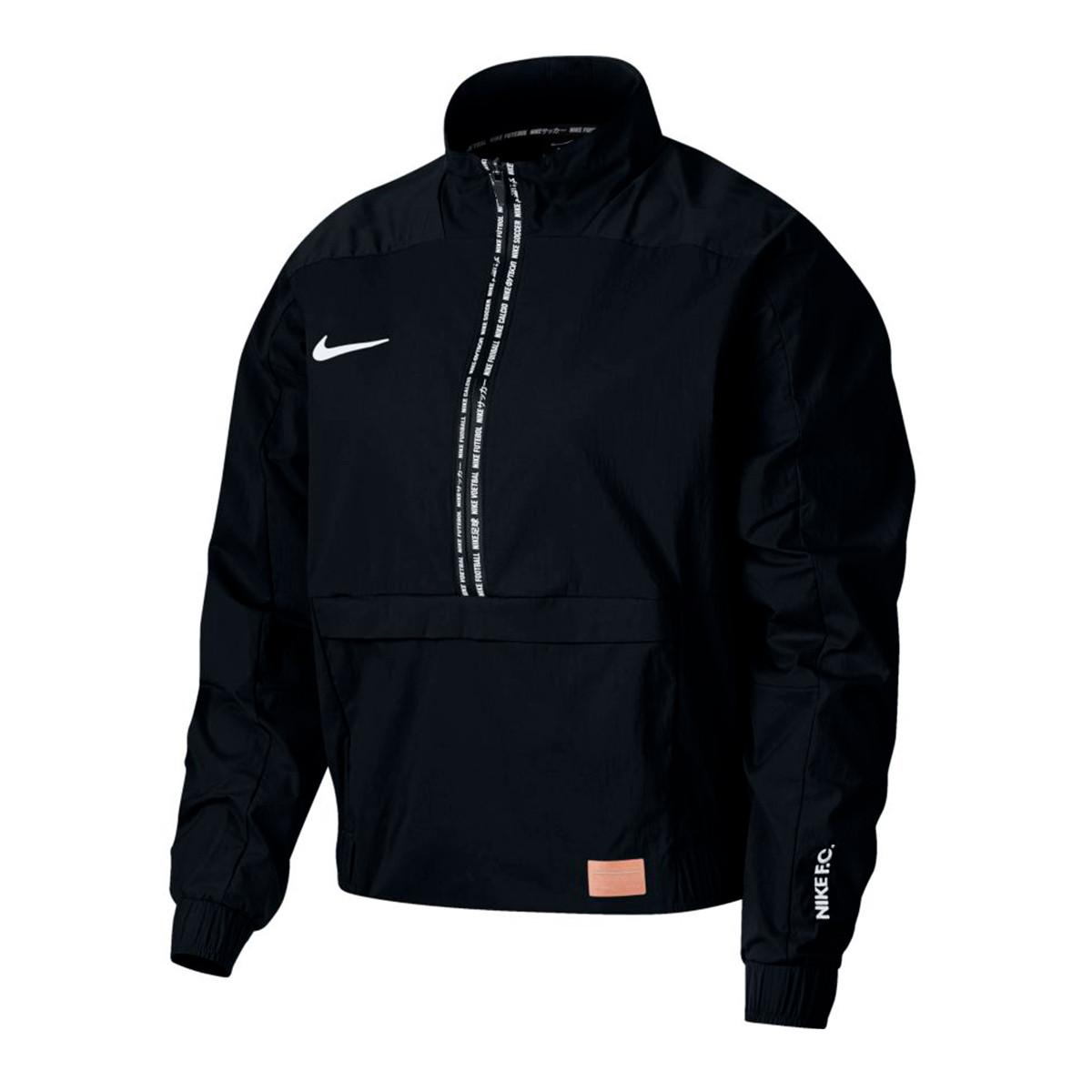 sostén atómico Médico  Jacket Nike Dry Nike F.C. Midlayer QZ Mujer Black - Football store Fútbol  Emotion