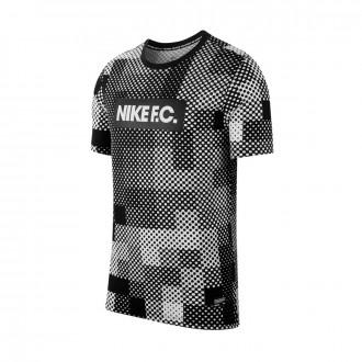 Camiseta Nike Nike F.C. Dry Block White-Black