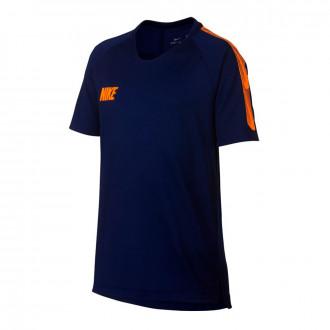Camiseta  Nike Breathe Dri-FIT Squad Niño Blue void-Total orange