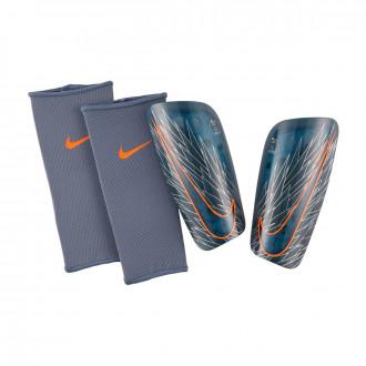 Espinillera  Nike Mercurial Lite Armory blue-Hyper crimson