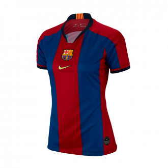 Camisola  Nike FC Barcelona Breathe Stadium SS ELC 2018-2019 Mulher Gym blue-Canary