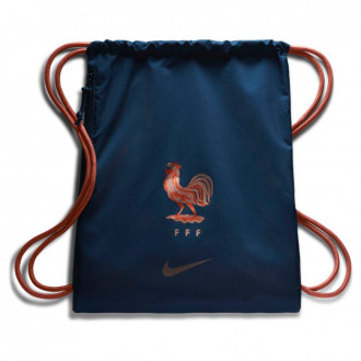 Sac de sport  Nike Stadium Equipe de France Gym Sack 2018-2019 Midnight navy-Metallic rose gold
