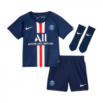 Conjunto Nike Paris Saint-Germain Breathe Primera Equipación 2019-2020 Bebe Midnight navy-White