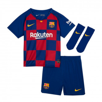 Conjunto  Nike FC Barcelona Breathe Primera Equipación 2019-2020 Bebe Deep royal blue-Varsity maize