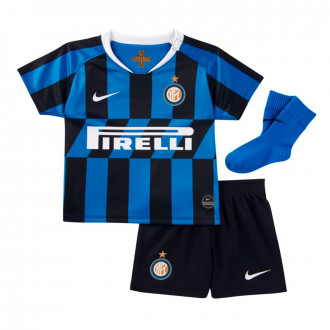 Conjunto  Nike Inter Milán Breathe Primera Equipación 2019-2020 Bebe Blue spark-White