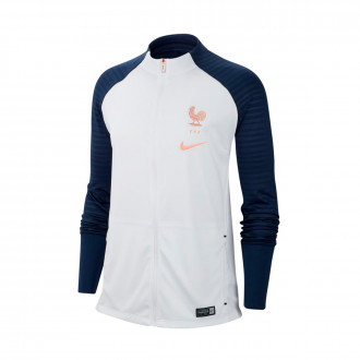 Veste  Nike Equipe France Anthem Squad WWC 2019 Femme White-Midnight navy