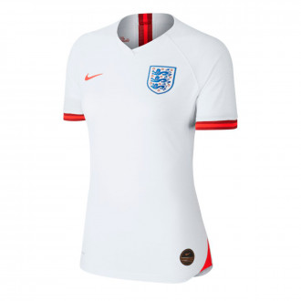 Jersey  Nike Seleccion Inglaterra Vapor Match SS Primera Equipación WWC 2019 Mujer White-Challenge red