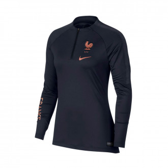 Sweat  Nike Equipe France Dry Squad Dril Top WWC 2019 Femme Dark obsidian