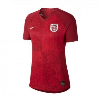 Camisola  Nike Seleccion Inglaterra Vapor Match SS Segunda Equipación WWC 2019 Mujer Team red-Phantom