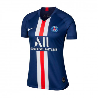 Camiseta Nike Paris Saint-Germain Breathe Stadium SS Primera Equipación 2019-2020 Mujer Midnight navy-White
